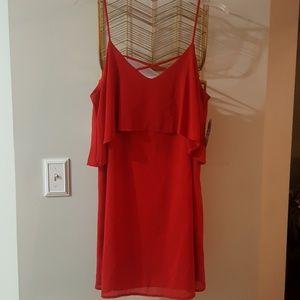 Stappy red dress